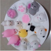 Hasbro Toy Kawaii Original Japón Lazy Cat Mochi Descomprimir Squishy Squeeze Cat Curación de juguete lindo Little Animal Dumpling Mini regalos para niños