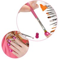 15 Pz Cosmetic Nail Art Polish Painting Disegna pennelli Punte Pennelli Set Gel UV