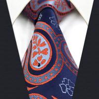Mens C29 Cinzento Azul Red Paisley Laço da gravata de seda tecido jacquard clássico Moda Wedding Ties extra longo tamanho para macho