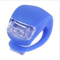 6 Farben LED Fahrrad Kopf Silikon Radfahren Kopf Vorne Hinten Rad-LED-Blitzlicht-Lampe Fahrrad Warnning Lichter leuchten