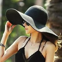 2017 signore Cappello per il sole cappelli estivi donne larghi del bordo cappelli di paglia pieghevole esterno della spiaggia Cappelli di Panama Hat Chiesa Bone Chapeu Feminino Lady Hat