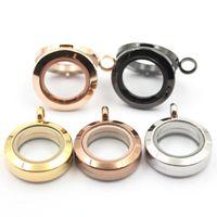 puede mezclar diseños de medallón de cristal magnético de 20 mm Panpan Living Locket 316L de acero inoxidable redondo para encantos de medallón flotantes