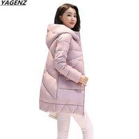 Оптовая продажа женщин Parkas Women Parkas - 2021 женские куртки зимние женские теплые утолщение с капюшоном с капюшоном пальто из хлопка мягкий M-XXL Yagenz K67