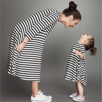 Spring Family Matching Outfits Fashion Mother Daughter Dress...