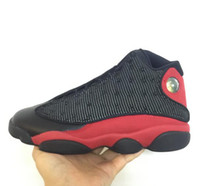 Gerçek Karbon Fiber XIII 13 s basketbol ayakkabı erkekler bred 3D gözler kutusu Ile siyah kırmızı Sneaker 13 BOYUTU 9, 10.5