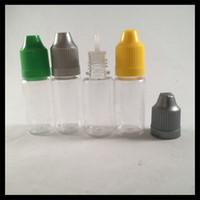 Botella del dropper del líquido de la botella E del ANIMAL DOMÉSTICO 10ml con el casquillo a prueba de niños y la botella de las extremidades de la aguja para el cigarrillo electrónico