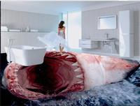 Wohnkultur Wohnzimmer Natürliche Kunst Realistische Ultra-High-Definition-Horror-Hai 3D-Stereo-nahtlose Bodenbelag
