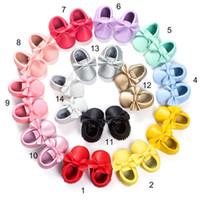 Новые малыши детские мягкие искусственная кожа кисточкой мокасины ходунки обувь младенцы малыш лук бахрома кисточкой обувь A125