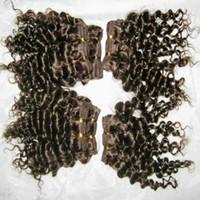 Nuevos raras Afro rizado rizado de la trama del pelo 100% peruana extensiones de cabello humano de orden mayor 20pcs