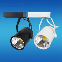 LED ad alta potenza per binari 15W COB Rail Light 15W LED Spotlight uguale a 150 W Lampada alogena AC85-265V 10 pz / lotto Spedizione gratuita