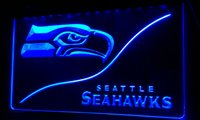 LS042- b Seattle Football LED Neon Light Sign Decor Free Ship...