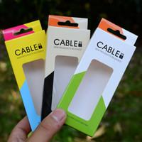 2015 Vide Micro USB Câble Retail Package Boîte De Papier Pour Téléphone Mobile téléphone intelligent 1M 2M Mobile Téléphone Chargeur Câble Emballage Universel DHL