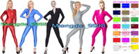 Costumes Sexy Zipper Avant Costume Unisexe Body 22 Couleur Lycra Spandex Catsuit Costumes Sexy Body Halloween Cosplay Costume M022