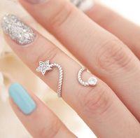 Anello stella a cinque punte stella di cristallo stelle tempestato di diamanti ornamenti a chiodo doppio uso all'ingrosso spedizione gratuita