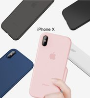 Funda de silicona delgada para iphone X Shell Soft PP mate ultrafino PP Funda para Apple iphone