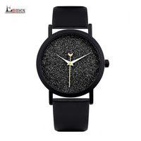 Дамы подарок новый стиль часы enmex творческий дизайн Спокойной ночи звездное небо простой краткое лицо кожаный ремешок кварцевые наручные часы