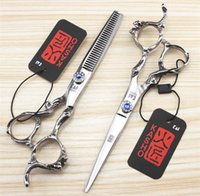 6 Inch 5. 5 Inch Hairdressing Scissors Dragon Handle Rhinesto...
