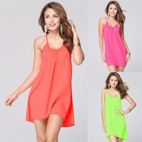 Swimwear new sling swimsuit women beach cover up dresses Eur...