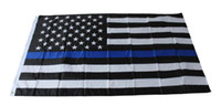 4 Типы 90 * 150см Флаги BlueLine США Полицейские 3x5 Foot Thin Blue Line Флаг США черный, белый и синий американский флаг с латунными креплениями