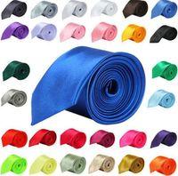 جديد ربطات عنق من الحرير والبوليستر صقيل اللون صقيل عادي ربطات العنق حفل زفاف العلاقات للرجال 24 الألوان موضة