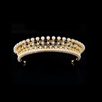 Europen and american style rhinestone queen wedding crown ti...