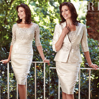 Classy Lace Applique Mother Of The Bride Dresses Scoop Neck ...