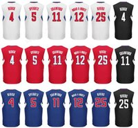 0edcef6a1d4 ... Printed Men 11 Jamal Crawford Jersey 25 Austin Rivers 5 Marreese  Speights 4 JJ Redick Basketball ...