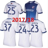 2017 Maillot de football de qualité thaïlandaise Dallas MLS Maillot d'homme 17/18 Acosta Zimmerman Dallas Burn chemises de football Uniformes T-shirt la de futbol