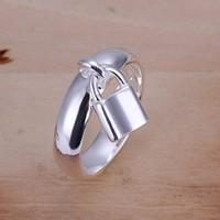 anillo de la joyería de plata esterlina cabeza VENTA de suspensión caliente para las mujeres WR014, manera de los anillos anillo de plata 925