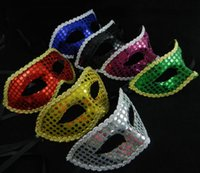 Christmas sequin lace party masks masquerade mask Venetian m...