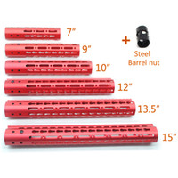 Red Anodized 7 9 10 12 13. 5 15' ' inch Keymod Handg...