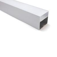 10 x 1m Conjuntos / lote Nuevo perfil LED de aluminio de la llegada y la extrusión de aluminio súper amplia para lámparas de techo o colgantes