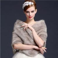 Gray Fourrure Bridal Wrap Bolero Stole Women Bridal Party Prom Shawl Cape Jacket Faux Fur Bolero Jackets For Evening Dresses