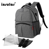 Nuovo modo all'ingrosso Diaper Bag zaino multifunzionale mamma zaino sacchetto del pannolino di nylon impermeabile bambino