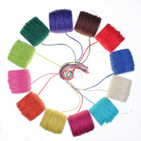 100 % 다채로운 대마 밧줄 2mm 간격 둥근 장식 손 선 밧줄 예술과 기술 실 옷 꼬리표 아이들 DIY 부속품