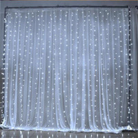 3x3m outdoor connectable led string curtain light fairy Chri...