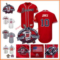 Chipper Jones Jersey with Retirement Patch Atlanta Braves 19...