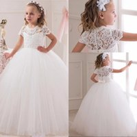 Most Lovely Communion Ball Gown Flower Girls Dresses For Wed...