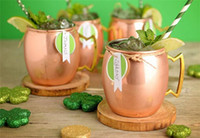 20pcs 2 designs Moscow Mule Copper Plated Mug Cup Stainless ...