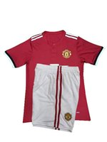 2017 maillot de football pour enfant en gros IBRAHIMOVIC POGBA Ensembles de football en jersey BLIND MEMPHIS MATA ROONEY 2017 2018 uniformes pour enfants Chemises de football