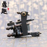 Heiße Verkäufe Tattoo Maschine 10 Wrap Spulen Tattoo Schwarz Farbe Gun Hohe Qualität Tattoo Supply TM462 Kostenloser Versand