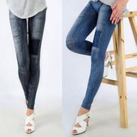 Toptan-Seksi Bayan Denim Jeans Sıska Tayt Jeggings Streç Kalem Pantolon Pantolon