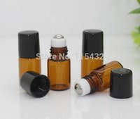 Wholesale 2ML 1 4 Dram Amber Roll on Glass Bottle, 1CC Sampl...