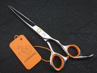 Forbici per parrucchiere Lyrebird forbici barbiere 5.5inch vite dorata collegamento arancione imballaggio semplice spedizione gratuita NUOVO