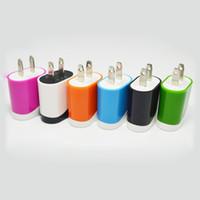 Двойной Цвет 5 В 1A USB США ЕС Plug Домашняя Адаптер переменного тока Зарядное Устройство Для Всех Мобильных Телефонов Планшет Смартфон Galaxy