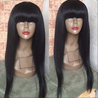 Full Lace Wigs With Big Bangs Virgin Brazilian Full Lace Hum...