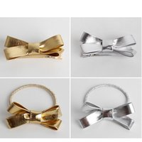Everweekend Baby Girls Gold Silver Bow Hair Clips Hairpins R...
