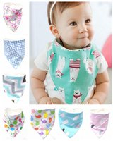 20pcs Baby Triangle Bib burp cloths 100% Cotton Chevron Band...