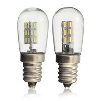 2W E12 Base a vite High Bright 3014 SMD 24 LED Glass Shade Light Lampadina Pure Warm White 220V per macchina da cucire Frigorifero