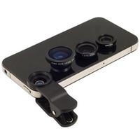 obiettivo della fotocamera del cellulare 3 in 1 obiettivo grandangolare macro obiettivo fisheye fotocamera universale lenti del telefono cellulare fish eye lentes per iphone 6 7 smartphone